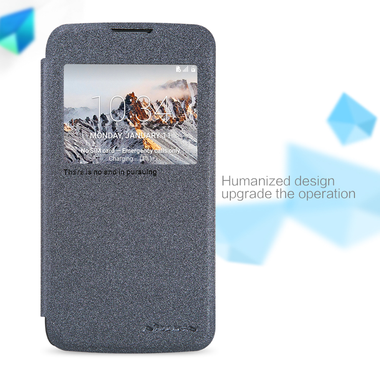 Nillkin 100% Original Flip Cover Sparkle Leather Case For LG K4 Cover Bag Smart Sleep Awake Cover Coque Capa(China (Mainland))