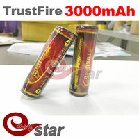 100PCS A/LOT Flashlight TrustFire 3000mAh 3.7V 18650 Li-ion Rechargeable Battery for LED Flashlight Torch With Protected Board
