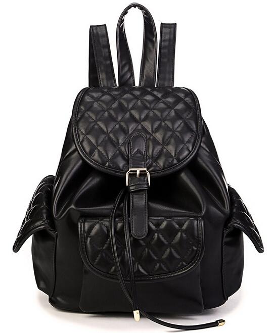 2015 New designer brand fashion black genuine leather bolsas mochila feminina New Korea fashion women backpacks Travel bag J349<br><br>Aliexpress