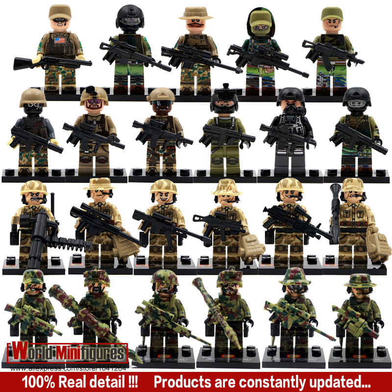 23pcs/lot Police Military Soliders SWAT Team police offiicer tactical unit minifigure Classic figures Best Children Gift toys(China (Mainland))