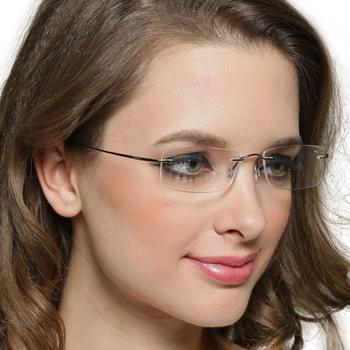 Aliexpress.com : Buy Rimless titanium eyeglasses frame ...