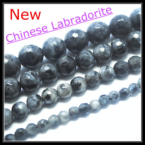 Natural chinese labradonite stone faceted ball shape nature semi precious stone beads accesories size 4mm 6mm 8mm 10mm 12mm(China (Mainland))