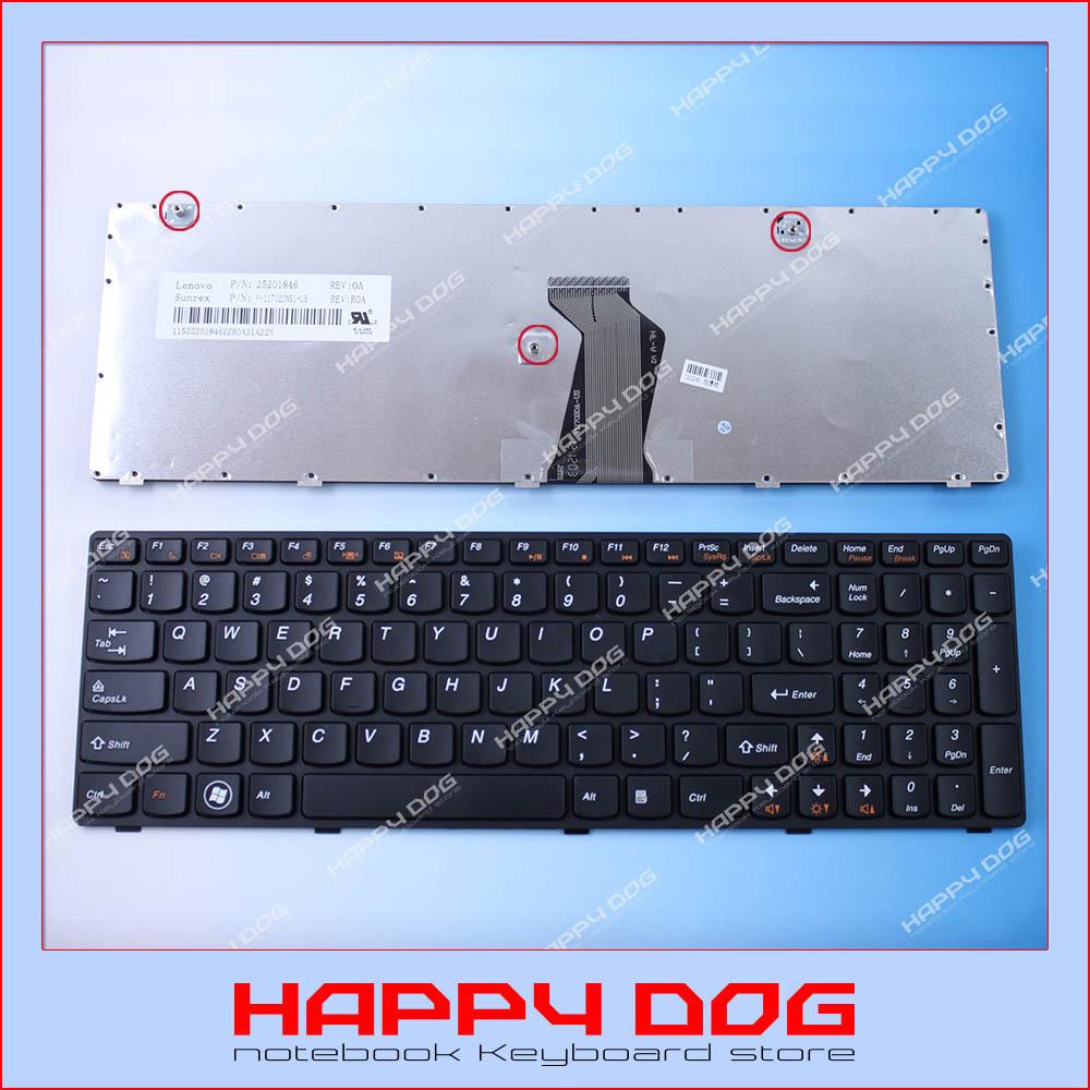 US Black Laptop keyboard for Lenovo IBM G580 G580A Z580 Z580A V580 V580A 25201846 V-117020NS1-US(China (Mainland))