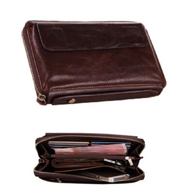 J.M.D Genuine leather business hand bag wholesale high-grade Leather men wallets Wristlet NEW 2015 men Wallet Card Pack 8039