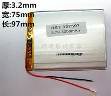 A сразу продуктов полимер аккумулятор 3,7 V 7 дюймов планшетный пк встроенный аккумулятор 327597