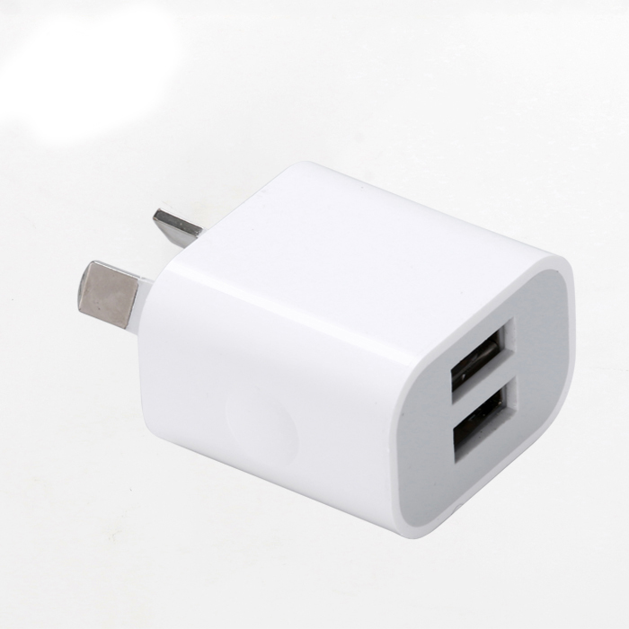 AU Plug Two USB Ports Mobile Phone Charger DC 5V 2A Output Power Adapter Used for iPhone iPad Samsung HTC Mobile Phone Tablet PC(China (Mainland))