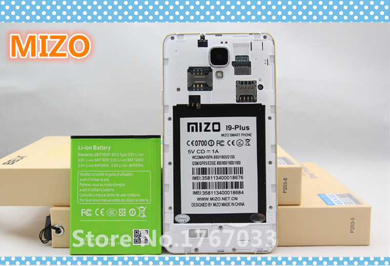 Newest High Quality Original Cell Phone Battery 2800mAh Rechargeable Li-ion Battery for MIZO I9 pIus(China (Mainland))