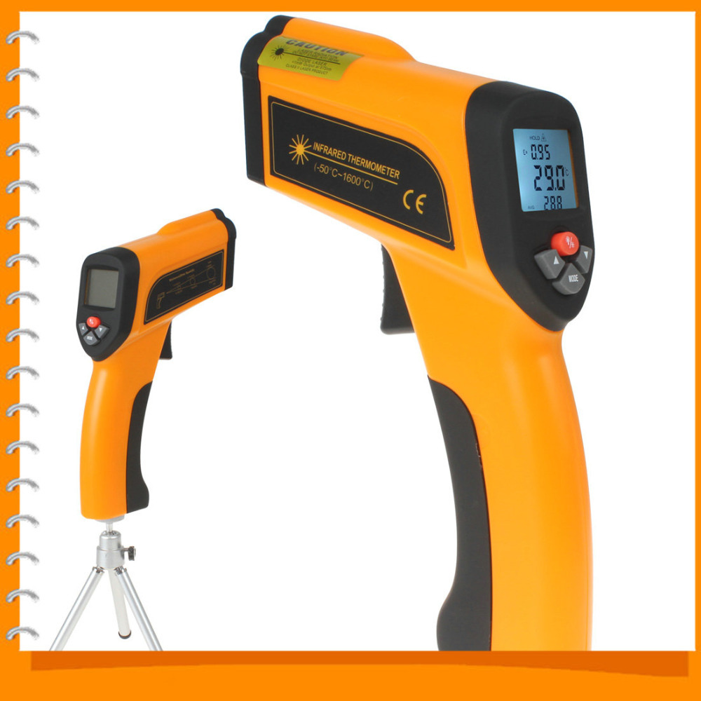 Non-contact LCD Backlight Laser Infrared ir Digital Electronic Industrial Thermometer Temperature Meter Gauge (-50 to 1600 C)(China (Mainland))
