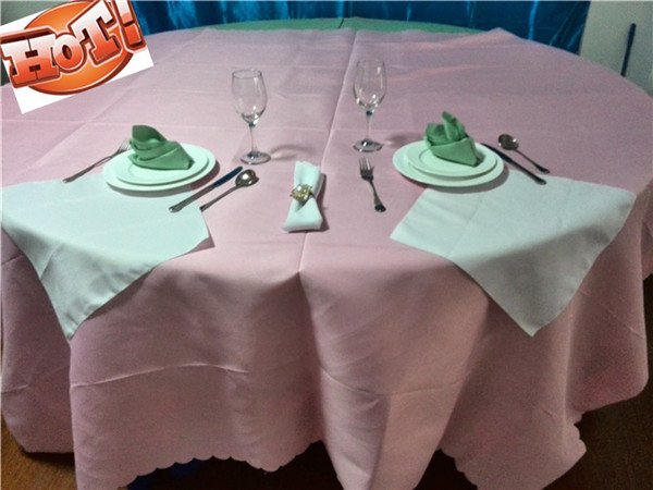 10pcs 90'' polyester table cloths square for wedding party(China (Mainland))