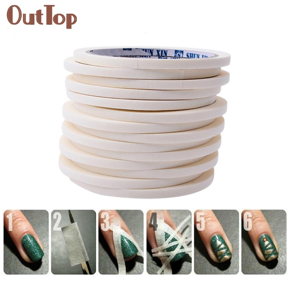 17m*0.5cm French Style Manicure Nail Art Tips Creative Nail Stickers Tape Decor 0324B(China (Mainland))