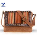 YUBIRD Brand New Designer Rivet Satchels Bag Women Shoulder Crossbody Bag Casual Fabric School Flap Messenger