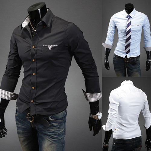 Мужская повседневная рубашка ! & 1399-5031-35