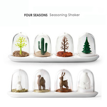 4PCS Kitchen Supplies Bottle Seasons Spice Seasoning Salt Pepper Shaker Condiment Shaker Container Animals Bottle KC1128(China (Mainland))
