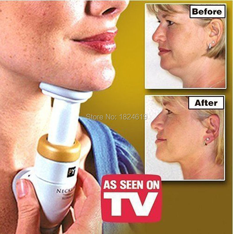 Portable Non-surgical Neckline Slimmer Neck Massager Exerciser Double Chin Jaw Check Lift Up Anti Aging Pain Relief(China (Mainland))