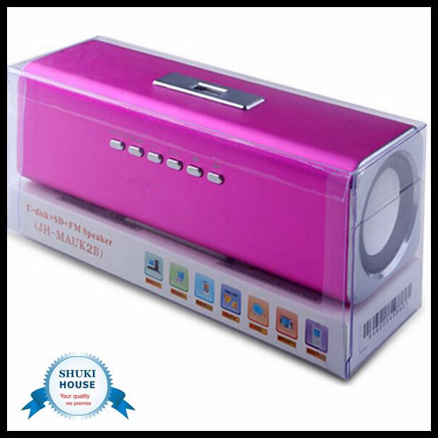 Music Portable mini speaker wireless stereo FM USB Disk Speaker Micro SD TF MAUK2 - shuki electronic store