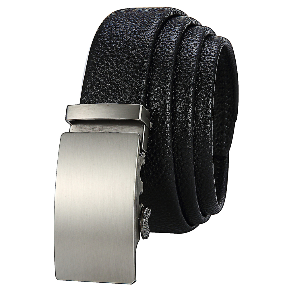 2016 Famous Brand Genuine Leather Belts For Men Business Mens Belts Luxury Automatic Buckle Dress Belt Fashion Cintura Uomo(China (Mainland))
