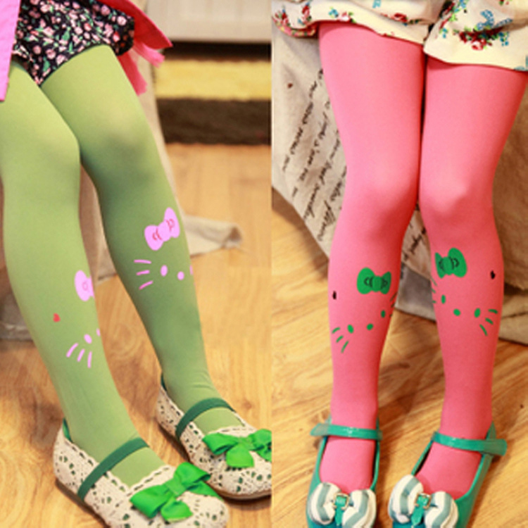 2PCS/LOT Cartoon Baby Tights For Children Elastic Velvet Baby Pantyhose Dance Tights For Girls Children's Pantyhose Baby Tights