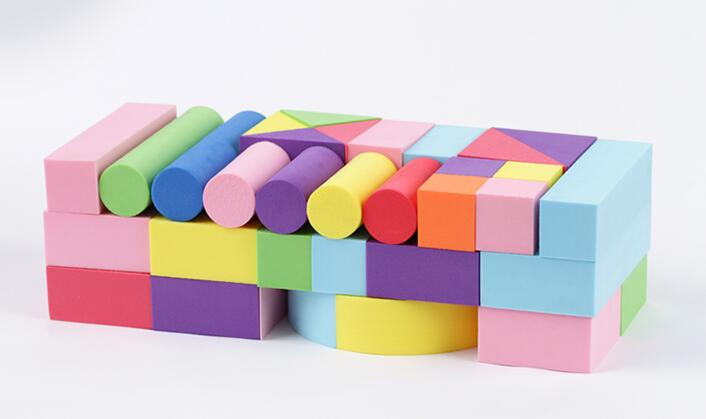 52 Pcs Baby Toys Building Blocks Eva Foam Non-Toxic Non-Recycled Quality for Children Soft Color Bright Brinquedos Juguets(China (Mainland))