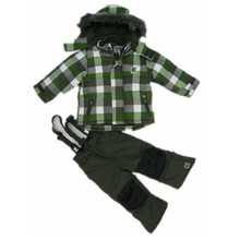 2016 Winter Boys Ski Sets Waterproof Hooded Jackets Pants 2 Pieces Tracksuits for Children Windproof Sports Kids Clothing Suits(China (Mainland))
