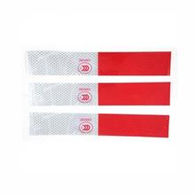 5Pcs New DIY Red-White Truck Safety Warning Night Reflective Strip Tape Stickers(China (Mainland))