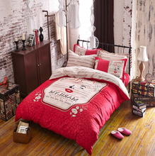 New Coming! Bedding Set Duvet Cover Bed Sheet Marilyn Monroe Red Fashion For Kids and Adults Cotton 100% Soft No Shrinking(China (Mainland))