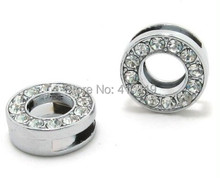 "Buy Fashion charms 50PCS 8mm "" O "" full rhinestones diy slide letter for $5.17 in AliExpress store"