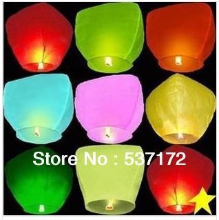 Wholesale Sky Lanterns Wishing Lamp Low retardant safe oversized factory direct blessing light sky lanterns(China (Mainland))
