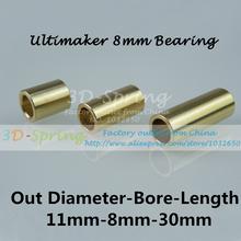 8mm Bearing Ultimaker Copper Sintered Bush Dintered Self-lubricating DIY 11*8*30 mm For Slide Block 3 D Printer Accessories
