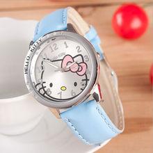 2015 New Hot Sale Low Price Fashion Girls Cute Cartoon Watch Hello Kitty Watches Women Children