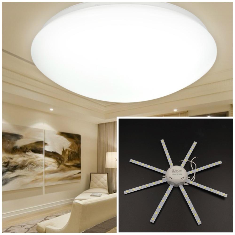 90% High Bright Ceiling Lamp 12/16/20/24W PCB Board Modified Light Source Led Bulb Plate Octopus Tube Energy Saving Lamp Plafon(China (Mainland))
