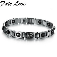 Buy New Fashion Italy Style Love Bracelet 316L stainless steel bracelet, magnetic energy health care stone men 635 for $4.66 in AliExpress store