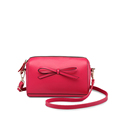 Ladylike Bowknot Ornament Cowhide Women Trendy Shoulder Bag Fashion Simple Crossbody Bag Ladies All match Casual
