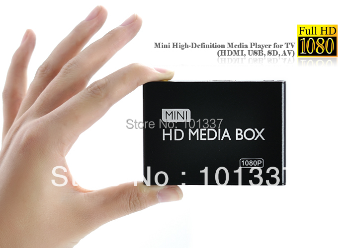Multimedia Mini Full HDD Media Player 1080P HD tv box Support HDMI MKV RM SD USB SDHC MMC HDD-HDMI( BOXCHIP F10 )FreeCar adapter(Hong Kong)