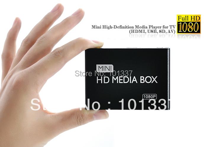 Multimedia Mini Full HDD Media Player 1080P HD tv box Support HDMI MKV RM SD USB SDHC MMC HDD-HDMI( BOXCHIP F10 )FreeCar adapter(Hong Kong)