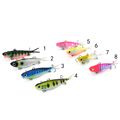 10pcs Bulk Mad Mullet Stretch Soft Vibe Fishing Lure Barra Lures Rubber soft bait 95mm 20g
