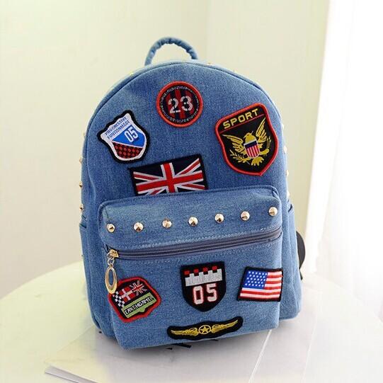 2016 новый свободного покроя холст рюкзак женщины мода школьные сумки для девочек ...