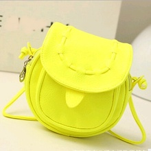 Women Messenger Bags Candy Color Cross Body Bags Casual Mini Sling PU Ladies Bag Small Mini