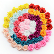 Buy DIY 500pcs/lot Handmade Satin Rose Ribbon Rosettes Fabric Flower Bow Appliques Wedding Decor Craft Sewing Accessories 1-35 for $6.98 in AliExpress store