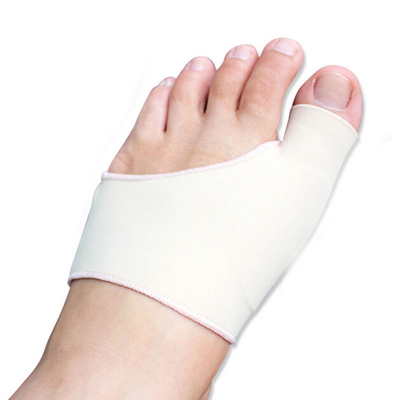 Bunion gel sleeve hallux valgus device foot pain relieve feet care silicon insoles orthotics overlapping big toes correction(China (Mainland))