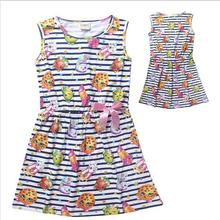 2016 SHOPKINS DRESS children clothes girls High quality baby girls dresses teenager kids dress for girls age 6-12T