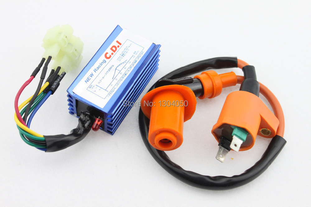 50cc 150cc High Performance Racing CDI Ignition Coil Scooter Moped font b GY6 b font ATV