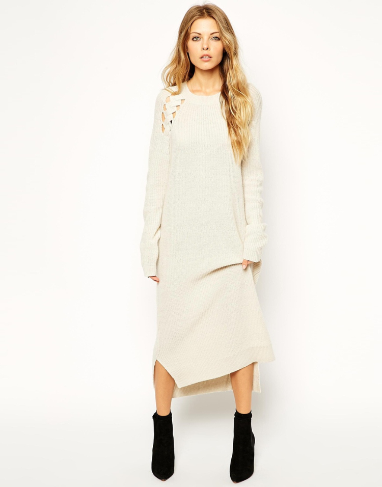 Robe pull longue hiver
