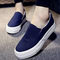 2016 Ladies Shoes Canvas Shoes Platform Flats Slip On Solid Woman Leisure Breathable Shoe Female Fashion