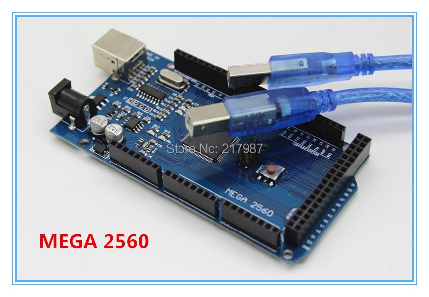 Free shiping !!! Mega 2560 R3 Mega2560 REV3 ATmega2560-16AU Board + USB Cable compatible good quality low price(China (Mainland))