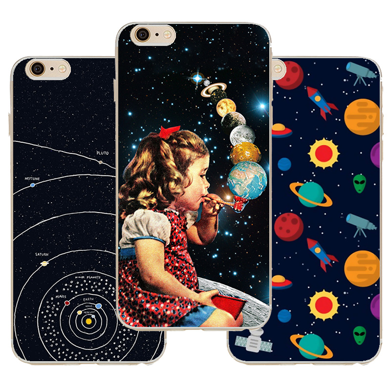 For Iphone6 Case Airship Astronaut Animation Star Pattern Case Cover For Apple Iphone 6 6s Cases Soft Silicone Shell(China (Mainland))