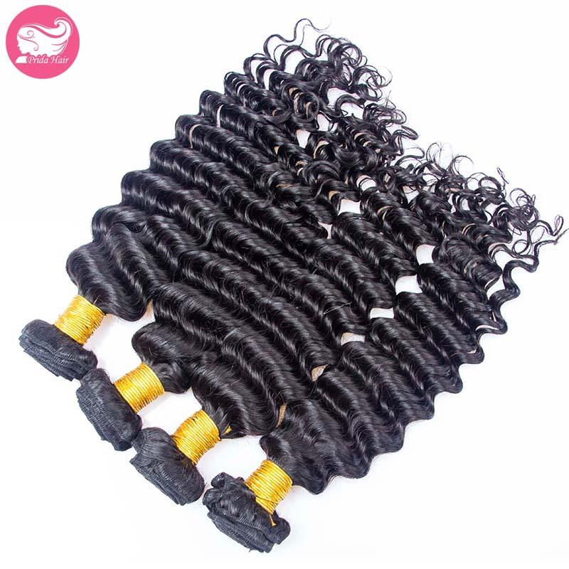 6A Deep Wave Virgin Peruvian Hair Bundles Unprocessed Virgin Peruvian Curly Hair Weft Extensions Peruvian Virgin Hair 4Pcs Lot <br><br>Aliexpress