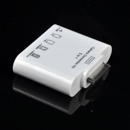 5in1 Camera Connection USB SD TF M2 MMC MS Card Reader 5 in 1 Adapter GS for Apple iPad 3 2 Card Reader(China (Mainland))