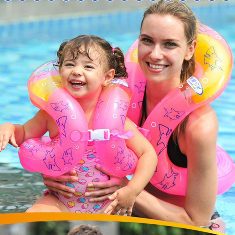 2015 Inflatable Swim Arm Rings Pool Children Swimming Laps Baby Float Circle to Swim Trainer Kids Adults Life Vest(China (Mainland))