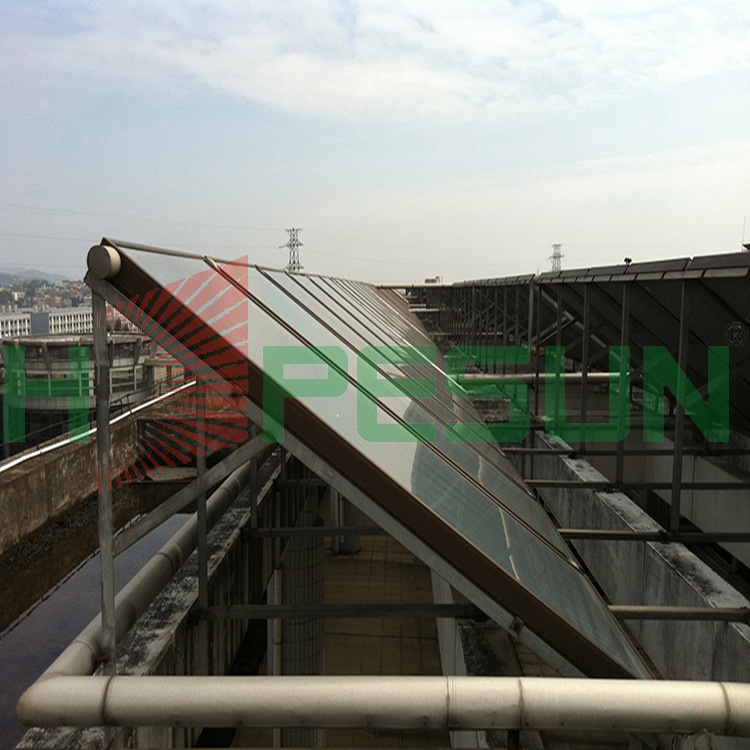 Factory direct pressure solar collector efficiency low-power electrical engineering aluminum black chrome flat plate collectors(China (Mainland))