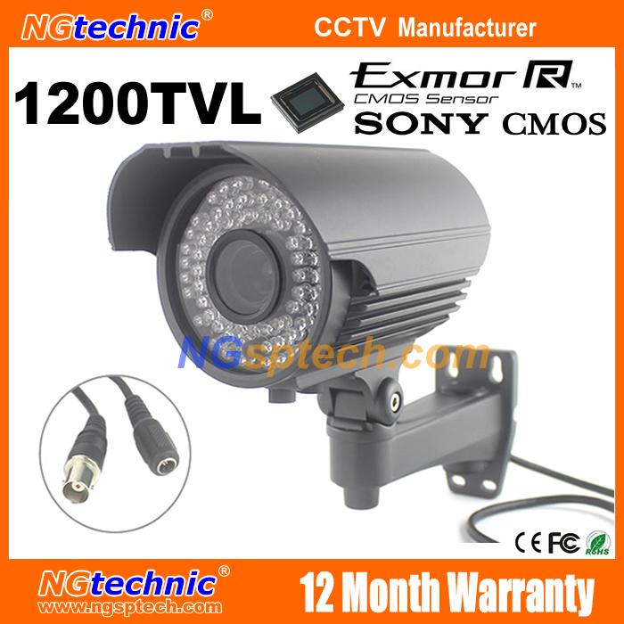 SONY IMX238 CMOS Sensor 1200TVL CCTV camera with IRCUT filter waterproof 2.8-12mm varifocal lens night vision security camera<br><br>Aliexpress